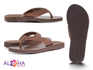 Scott Women's Brown Leather Hauoli Sandals - AlohaShoes.com