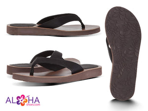 Scott Hawaii Women's Hauoli Black Leather Flip Flops - AlohaShoes.com