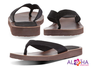 Scott Women's Hauoli Black Leather Sandals - AlohaShoes.com