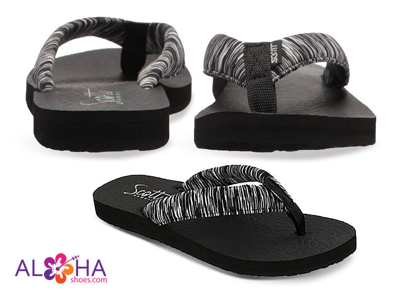 Scott Women's Kukini Yoga Mat Sandals with Black Striped Strap from Aloha Shoes