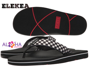 Men's Scott Hawaii Elekea Checkered Flip Flops- AlohaShoes.com
