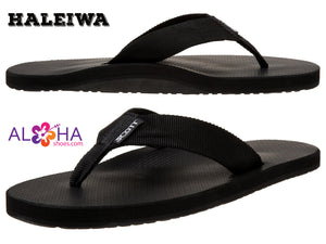 Scott Hawaii Men's Haleiwa Sandals Black with Flexable Straps- AlohaShoes.com