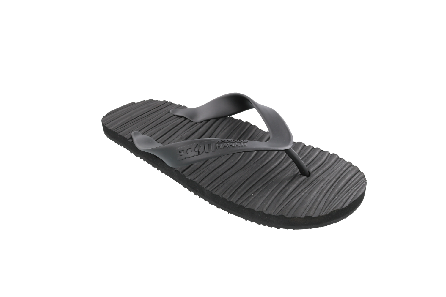 Scott Hawaii Pahoehoe Black Lava Design Rubber Slipper - AlohaShoes.com