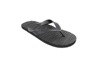 Scott Hawaii Pahoehoe Black Lava Design Rubber Slipper