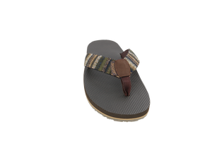 Men's Aina Rubber Slippers With Woven Strap- AlohaShoes.com