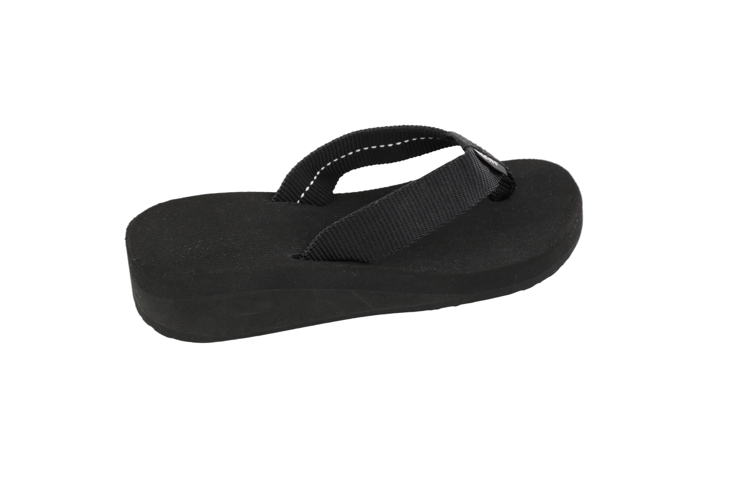 Scott Hawaii Girls Flip Flops Ele Ele Wedge ~ Black- AlohaShoes.com