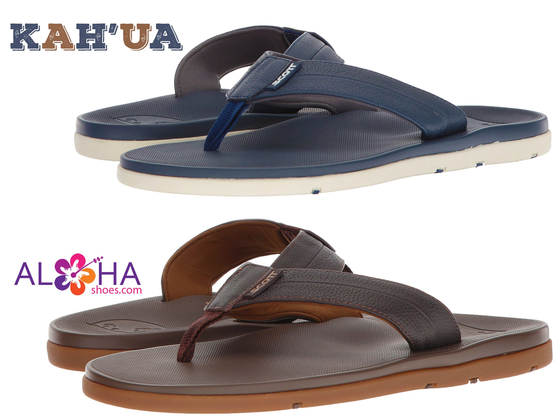 Scott Hawaii Leather Kahua Sandals | Neoprene Lined Strap - AlohaShoes.com