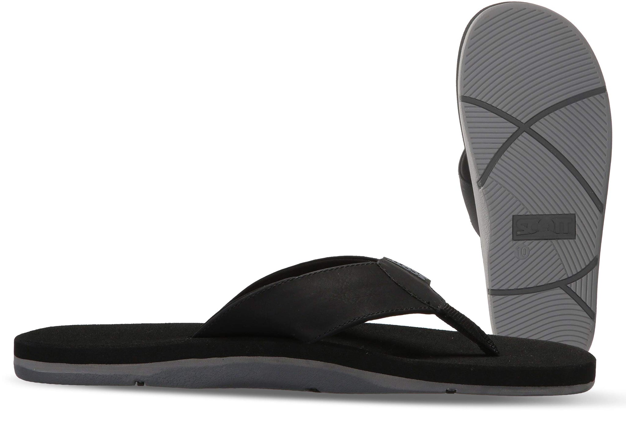 Scott Hawaii Men's Black Vegan Sandals | Neoprene Lined - AlohaShoes.com