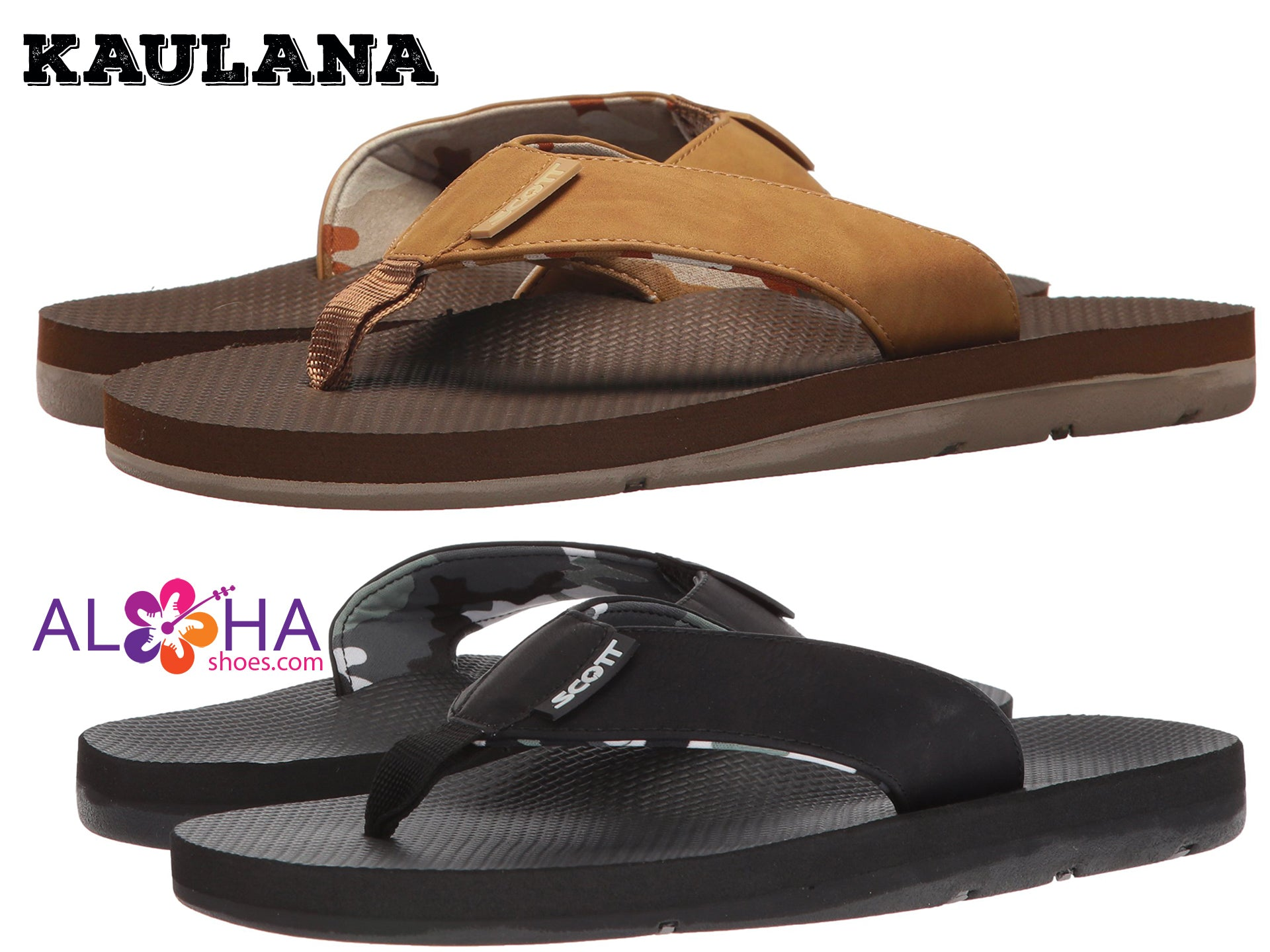 Kaulana PU Leather Sandal | Dual Neoprene Designed Straps - AlohaShoes.com