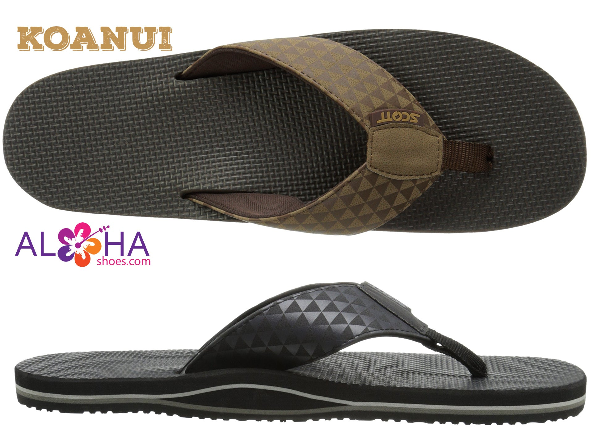 Scott Hawaii Men's Koanui Sandals - AlohaShoes.com