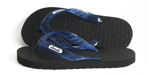 Locals Flip Flops Rubber Slippers with Blue Straps- AlohaShoes.com