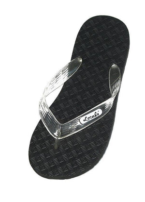 c39882766bd17 Men s Original Locals Black Rubber Slippers with Colored Translucent  Straps. Locals Hawaii Flip Flops