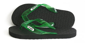 Locals Flip Flops Rubber Slippers with Green Straps- AlohaShoes.com