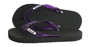Locals Flip Flops Rubber Slippers with Purple Straps- AlohaShoes.com