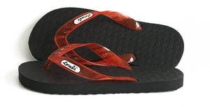 Locals Flip Flops Rubber Slippers with Orange-Red Straps- AlohaShoes.com