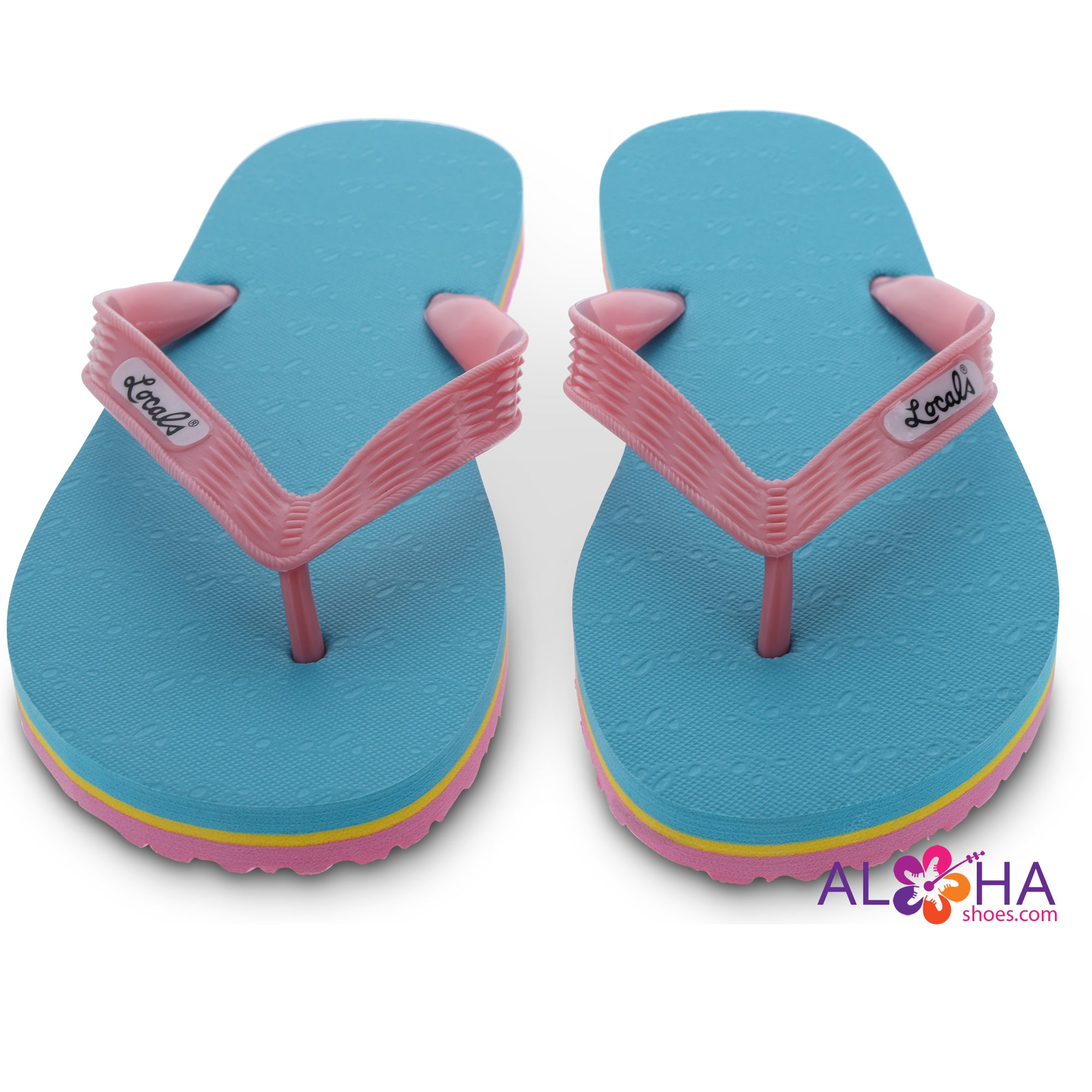 Locals Hawaii Women's Neon Slippers - AlohaShoes.com