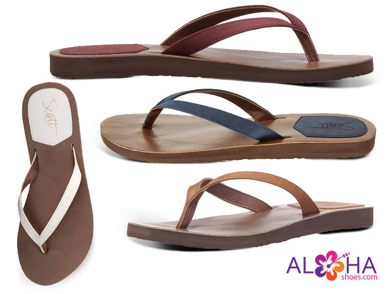 Scott Hawaii Women's Mohala Leather Strap Sandals - AlohaShoes.com
