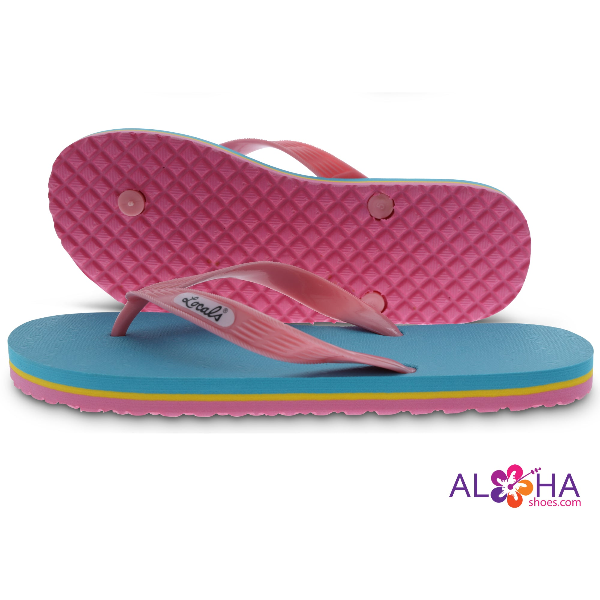 Locals Hawaii Women's Neon Slippers