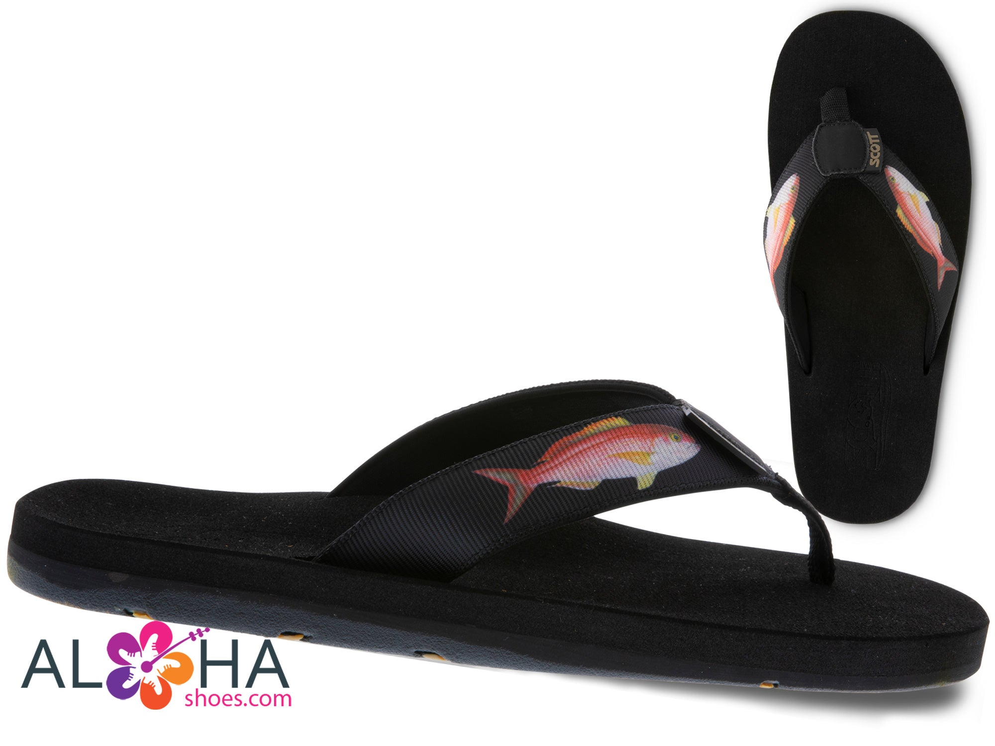 Scott Hawaii Men's Opakapaka Fish Sandal | Custom 2019 Designed - AlohaShoes.com