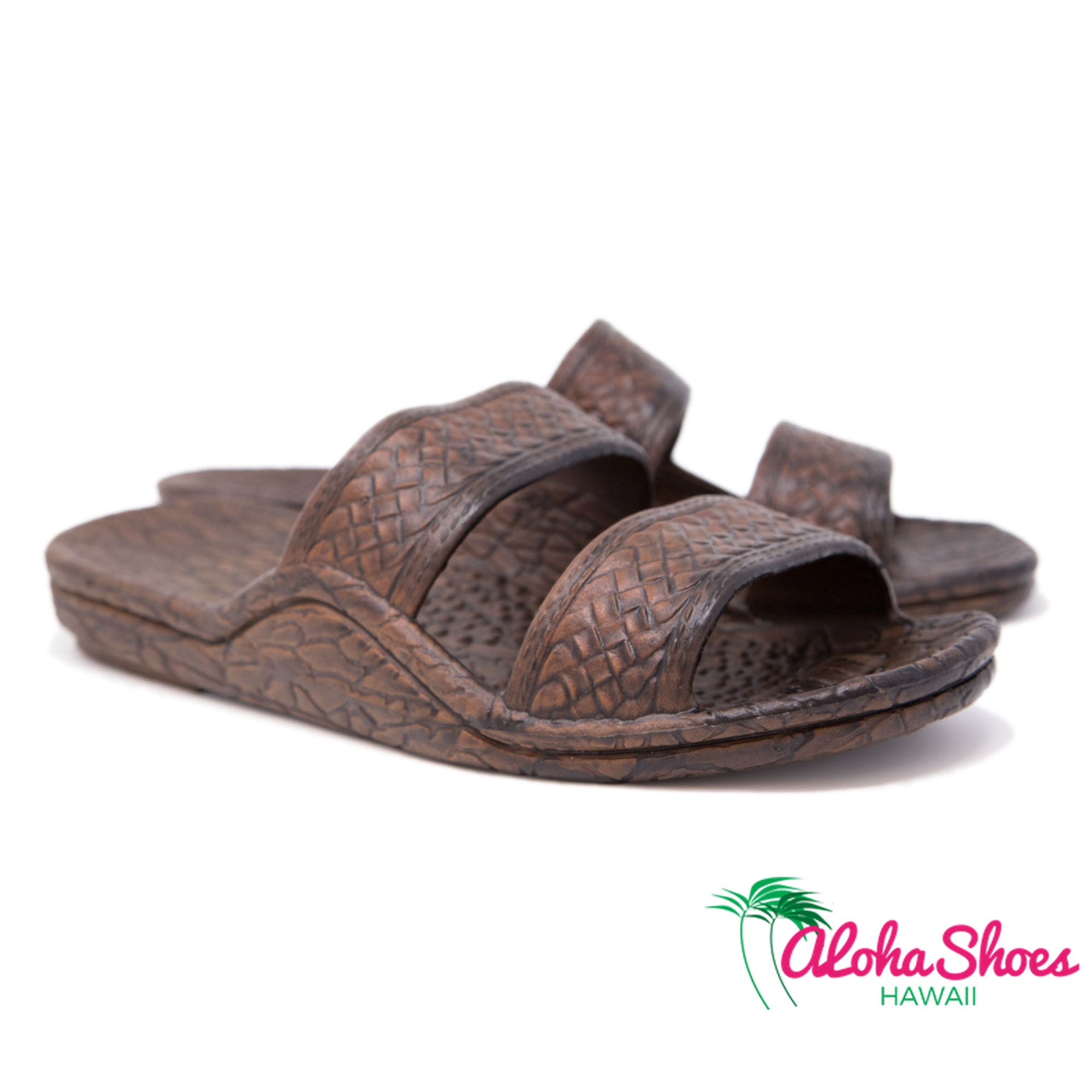 Pali Hawaii Jandals Dark Brown Slides - AlohaShoes.com