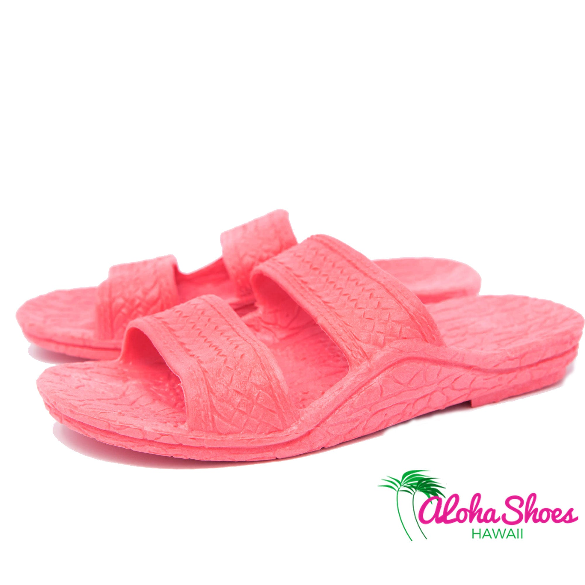 62f68ce46 Kids Jandals by Pali Hawaii Pink children slides - AlohaShoes.com