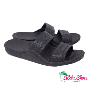 Black Jesus Sandals at the Aloha Shoes
