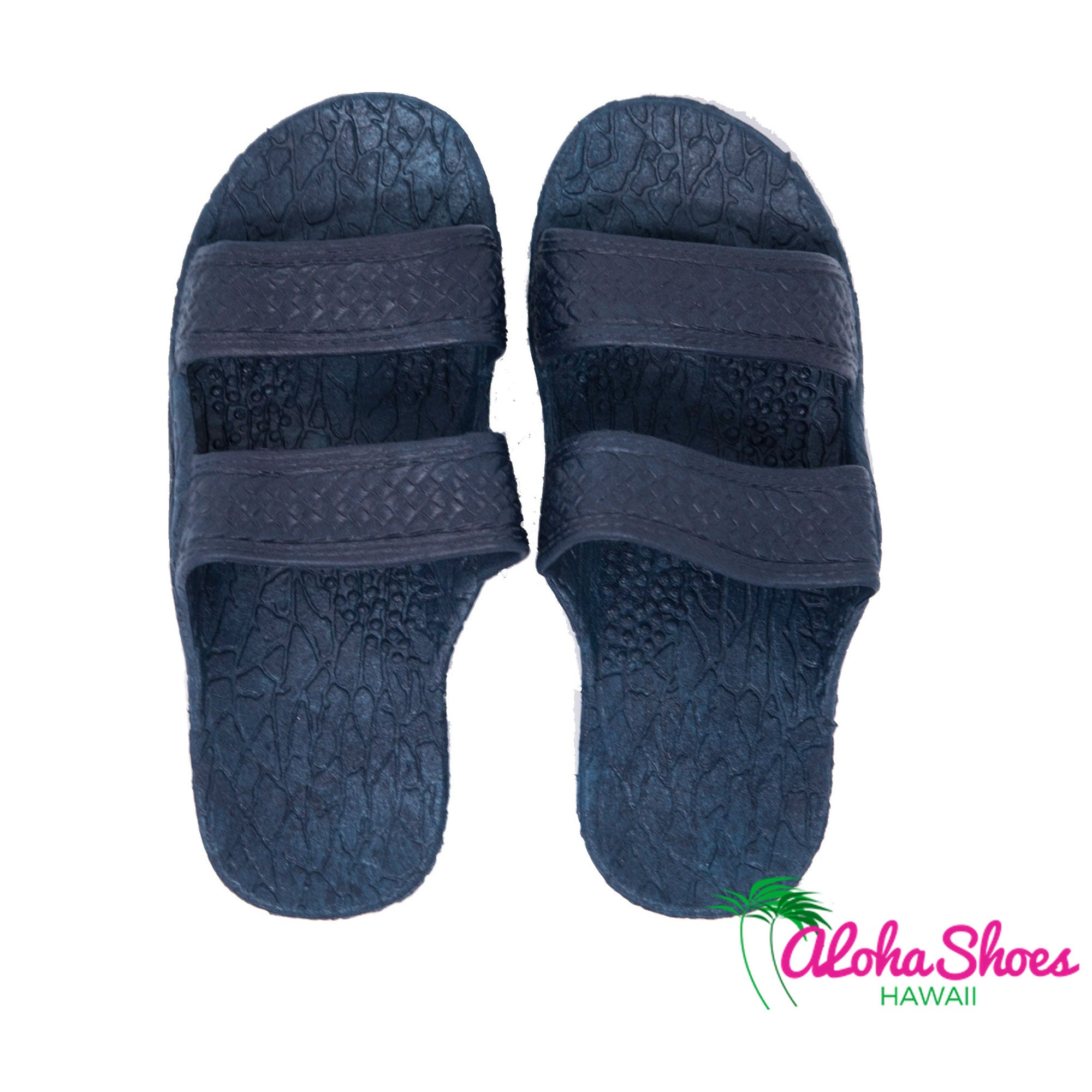 Pali Hawaii Sandals Navy Jandals - AlohaShoes.com