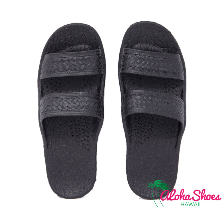 Black Jesus Sandals | Pali Hawaii Flexible Slide - AlohaShoes.com