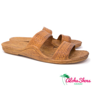 Pali Hawaii Jandals Light Brown Classic Sandals- AlohaShoes.com