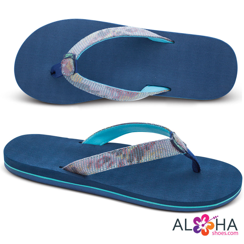 Scott Hawaii Hulili Ocean Blue Neoprene Strap - AlohaShoes.com