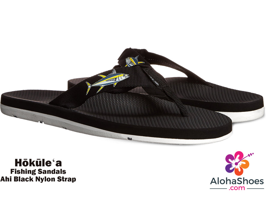 Scott Hokulea Boat & Fishing Sandals |  Mahi Ahi Design - AlohaShoes.com