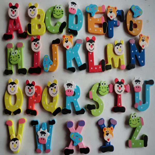 Alphabet A-Z Wooden Magnets