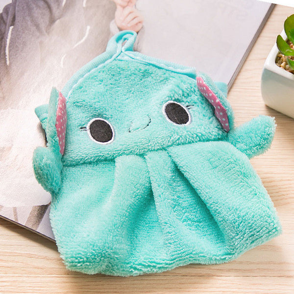 Plush Animal Hanging Bath Towel