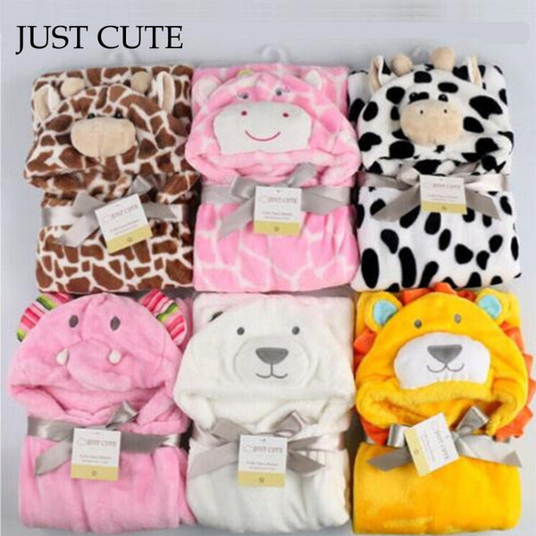 Soft Hooded Animal Bathrobe