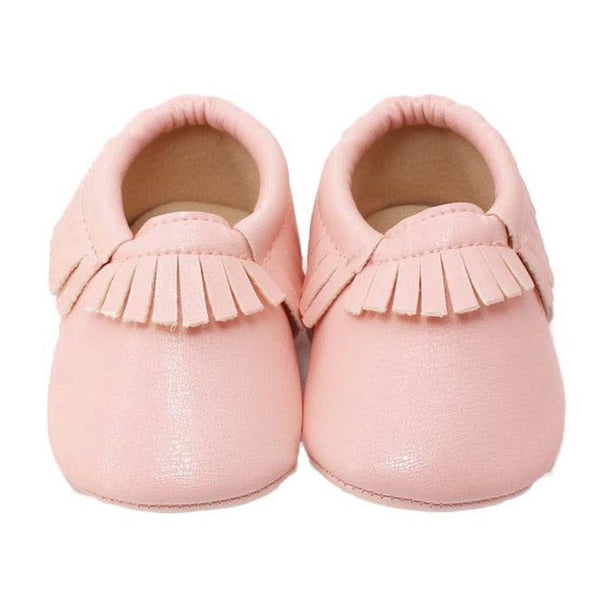 Newborn Baby Moccasin PU Leather Prewalkers 0-18M