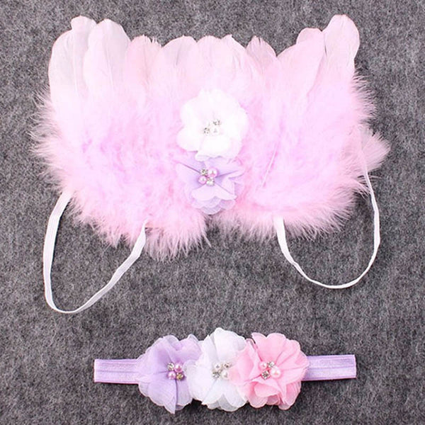 Newborn Photography Props: Angel Wing & Headbands