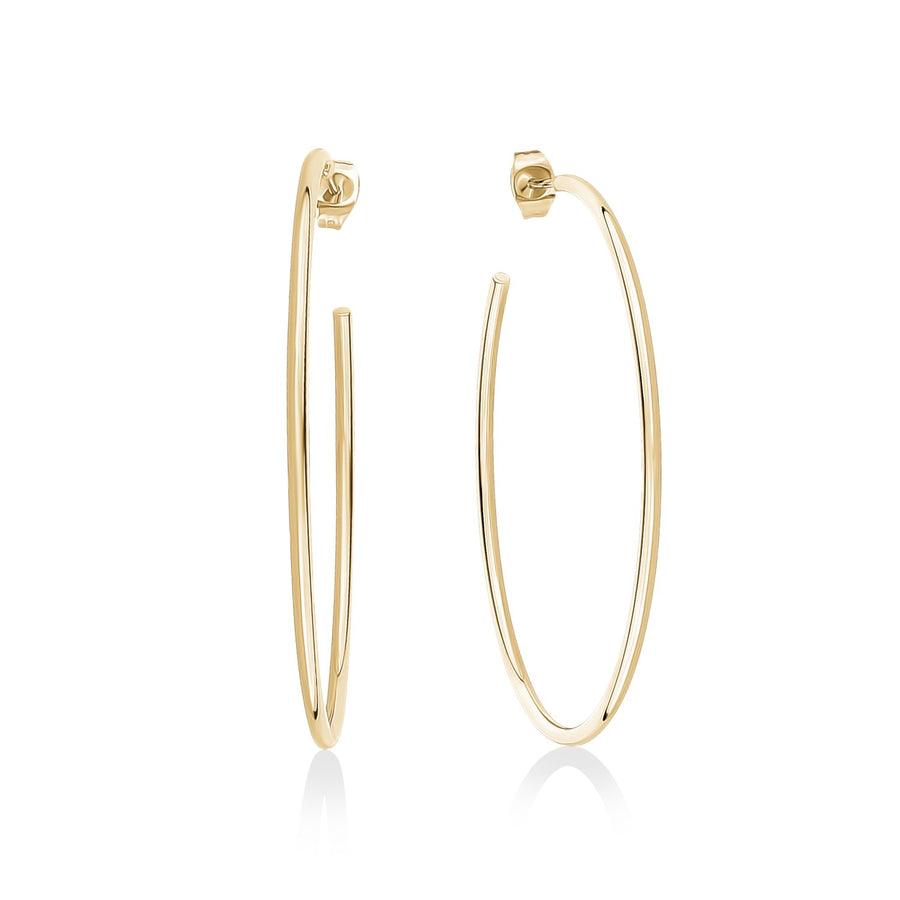 50mm Lightweight Stainless Steel Hoop Earrings