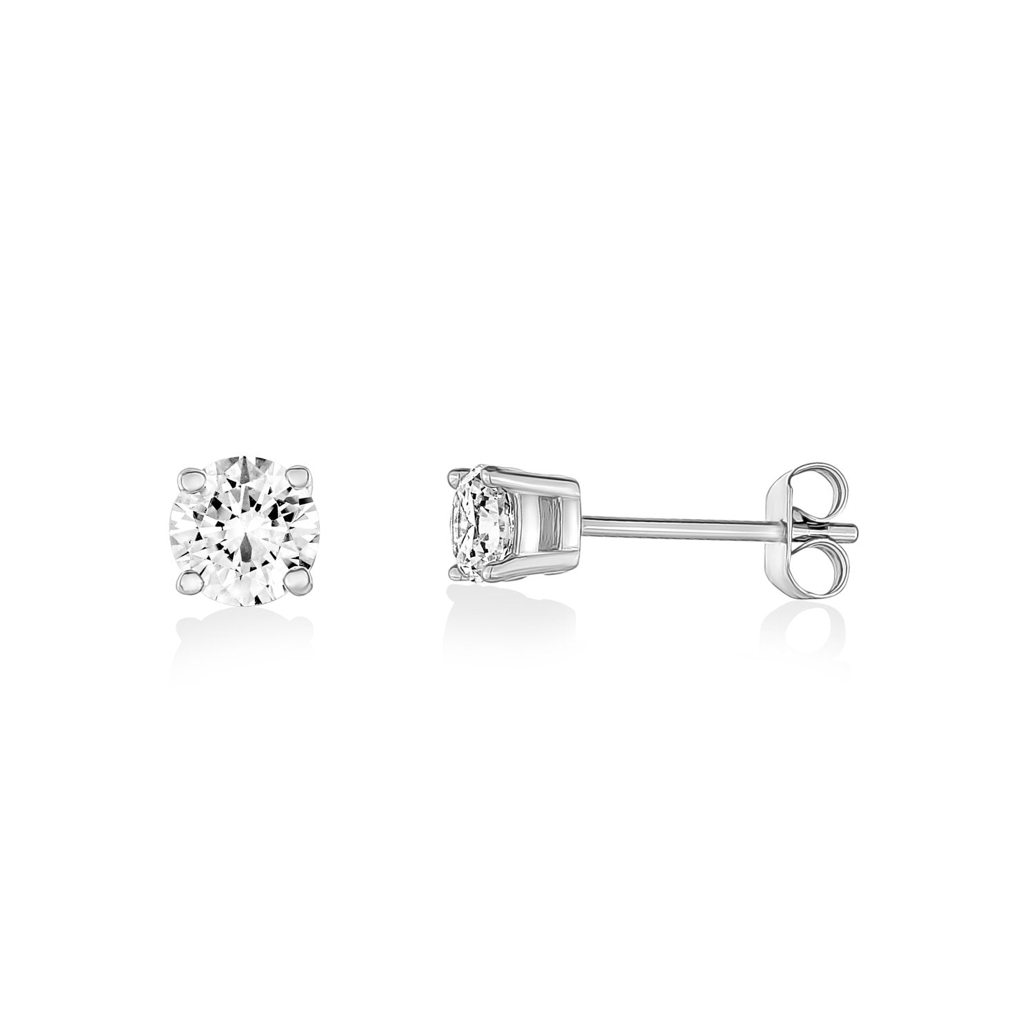 Earrings - 5mm Stainless Steel Cubic Zircon Stud Earrings