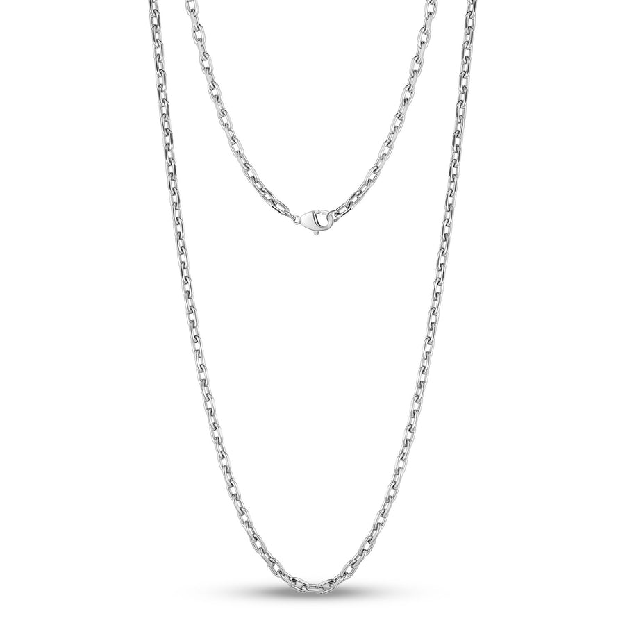 4mm Stainless Steel Oval Link Chain Necklace