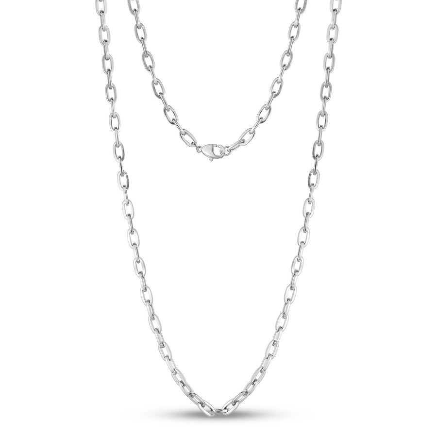 5mm Stainless Steel Oval Link Chain Necklace