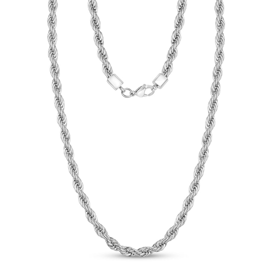 5mm Twist Rope Steel Chain Necklace