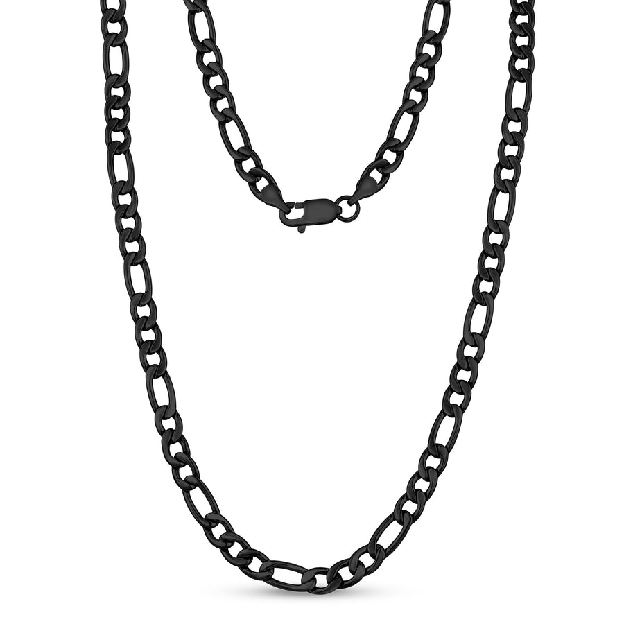 7mm Stainless Steel Figaro Link Chain Necklace
