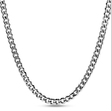 Men Necklace - 8mm Stainless Steel Cuban Link Chain Necklace