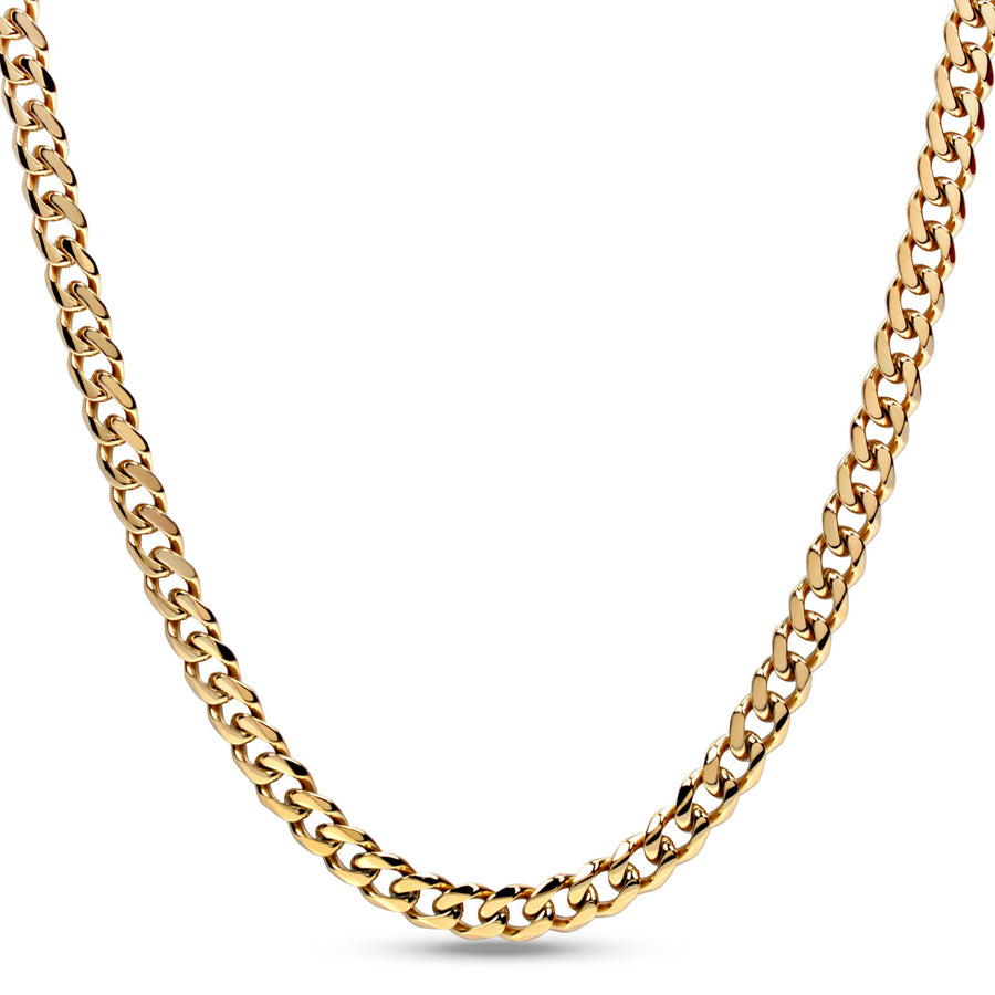 8mm Stainless Steel Cuban Link Chain Necklace