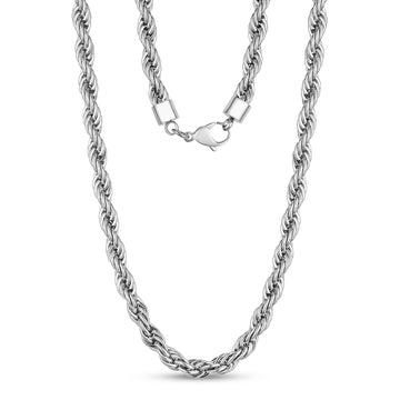 8mm Twist Rope Steel Chain Necklace