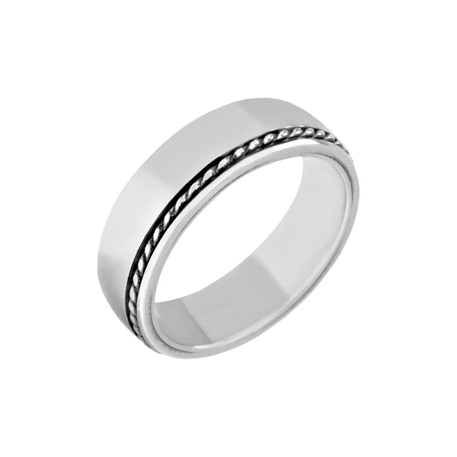 Men Ring - 7mm Simple Stainless Steel Ring - Engravable