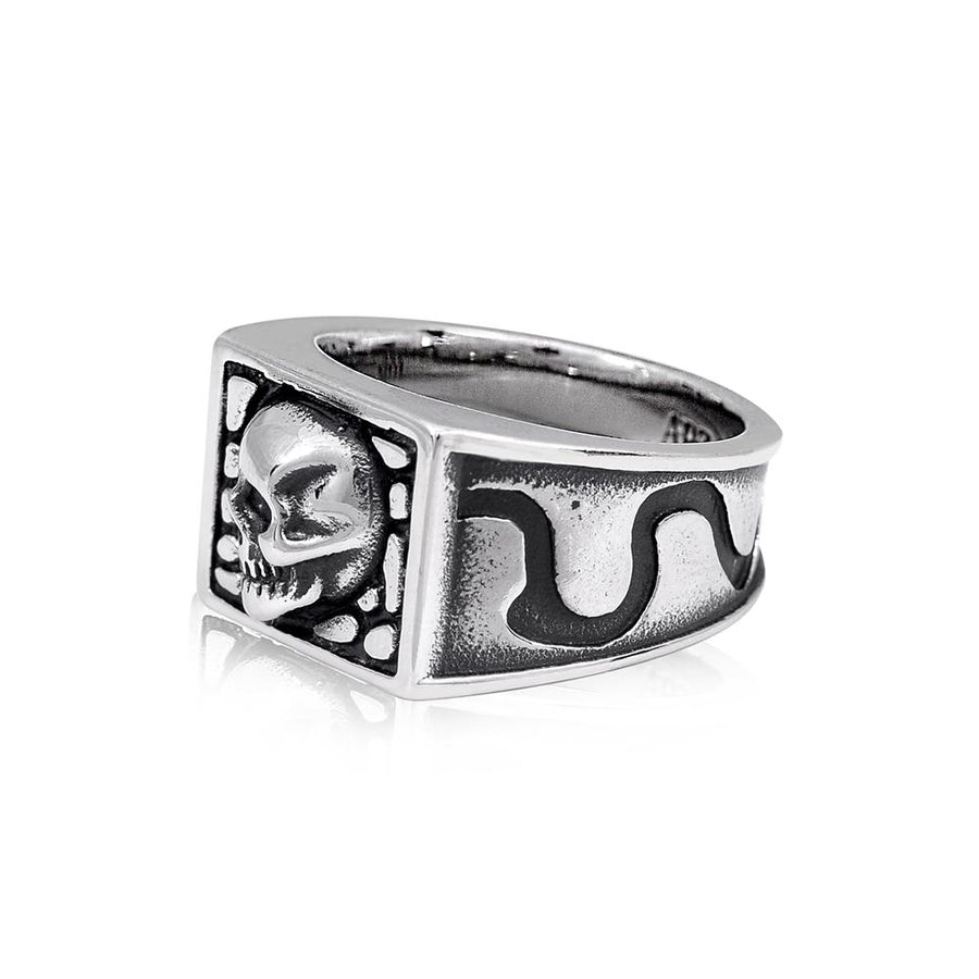 Men Ring - Skull Head Stainless Steel Signet Ring
