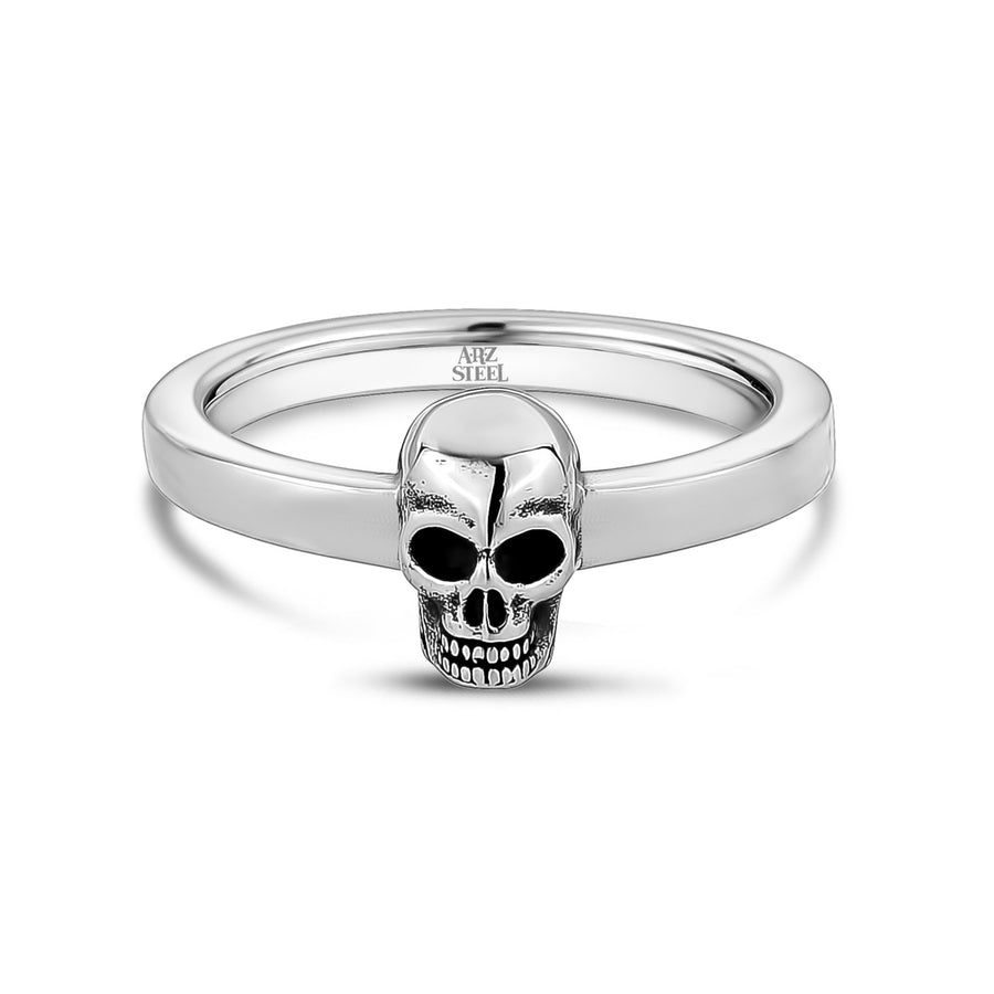 Men Ring - Stainless Steel Skull Head Band Ring