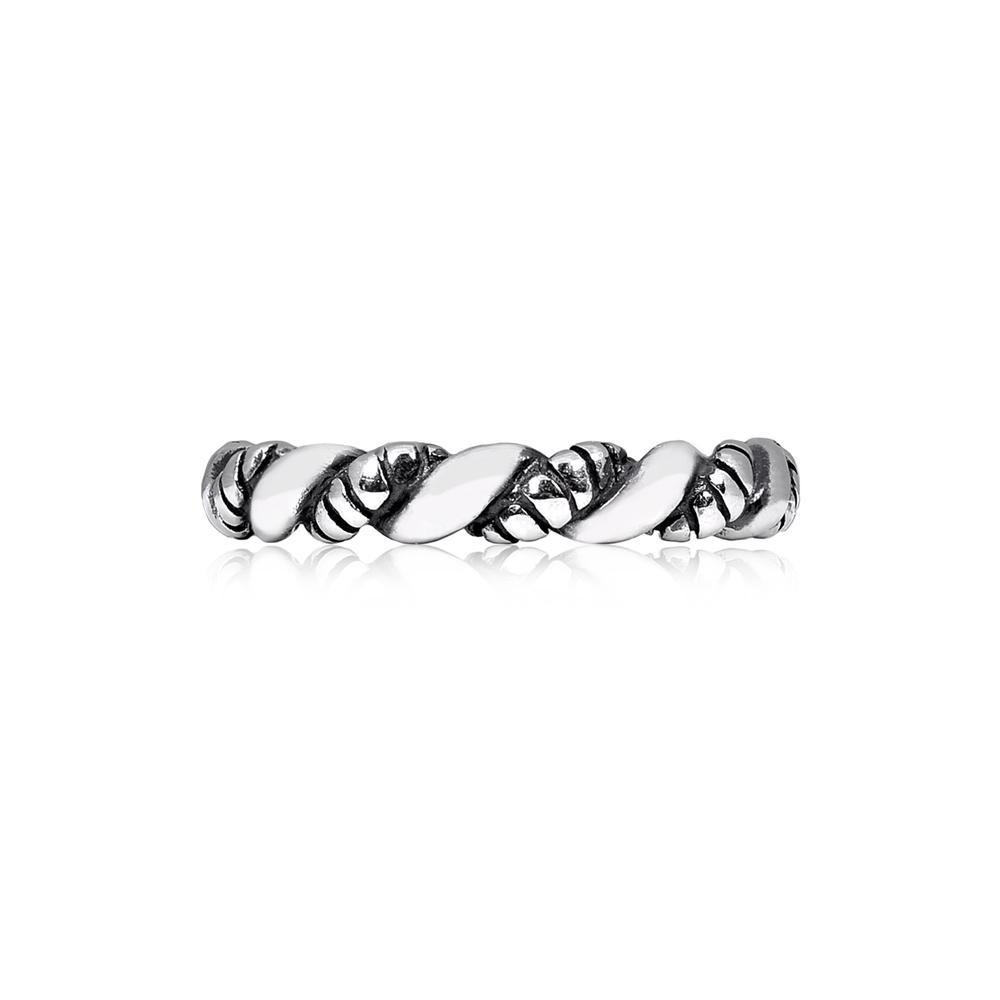 Men Ring - Twisted Cable Stainless Steel Ring