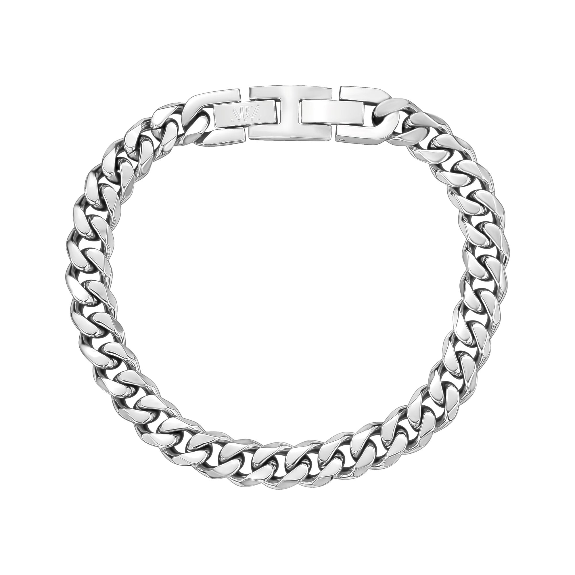 Mens Steel Bracelets - 8mm Stainless Steel Cuban Link Bracelet